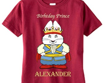 Max and Ruby/Max prince Custom t-shirt  (Different Colors)