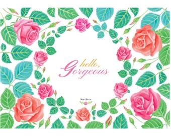 Watercolor Rose Clip Arts