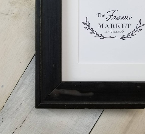 Dalaigh Black Wood Picture Frame With White Mat 8x10 9x12