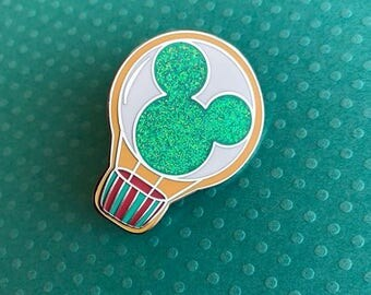 Mickey, Hot Air Balloon, Enamel Pin