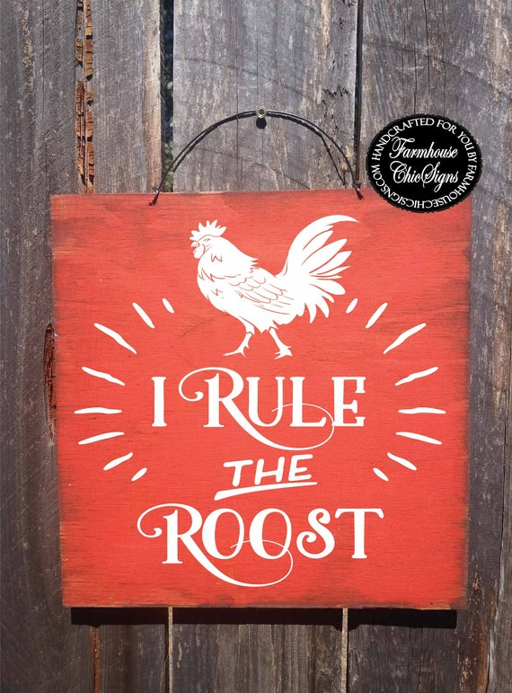 rooster decor, rooster sign, rooster wall art, rooster, roosters, chicken decor, chicken sign, funny rooster sign