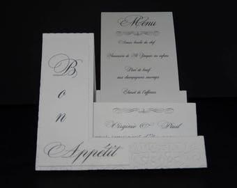 Petite baroque white accordion card