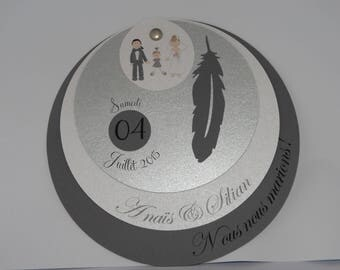 Share wedding circle feather