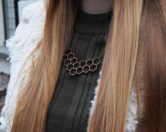 Bamboo necklace laser cut