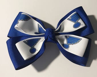 Hair Bow: St. Louis Blues