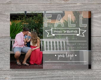 Fall mini session template, mini session template, mini session, photography template, photoshop template