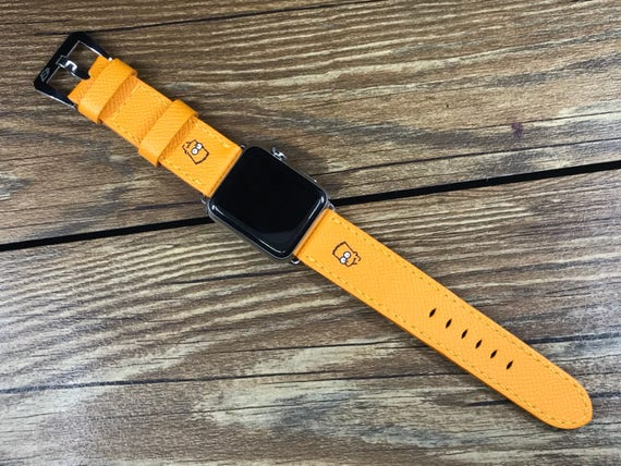 Apple Watch Band, Apple Watch 42mm, Apple Watch 38mm, Leather Watch Band, Epsom leather Jaune, iwatch 38mm, FREE SHIPPING