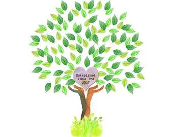 Newlywed Family Tree (White Background)