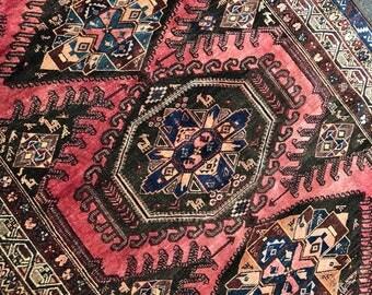 5'x8' Vintage Kurdish Rug