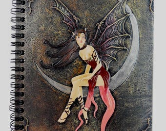 Keeper of Dreams Elfin Moon Fairy Roses Hardcover Blank Journal Diary Notebook