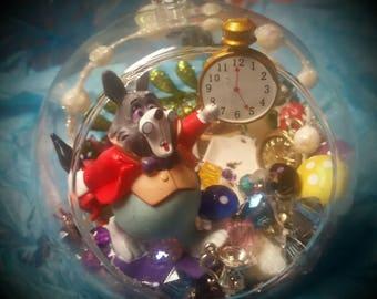 Alice in Wonderland Rabbit Inspired Globe