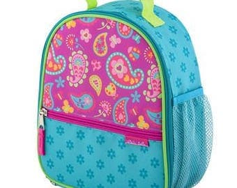 Stephen Joseph All Over Paisley Print Monogrammed Lunch Box for Back to School