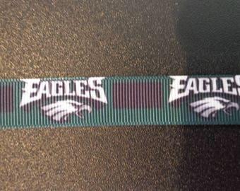 """5/8"""" Philadelphia Eagles Inspired Grosgrain Ribbon"""