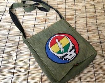 Eco Friendly Pure Hemp Embroidered Side Handbag