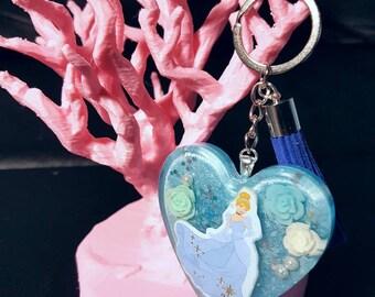 Disney Princess Heart Keychain
