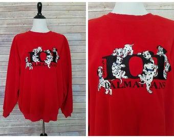 Vintage suéter de Disney | la década de 1990 suéter de Disney | Vintage 101 Dalmations | Suéter de ciento un dálmatas | Jersey retro Disney