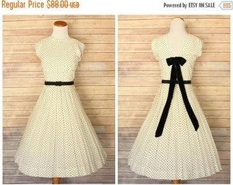 ON SALE 20% OFF 1950s Polka Dot Dress | 1950s dress | 1950s pat hartly dress | 1950s polka dots dress | 50s cotton dress |  Pat Hartly dress