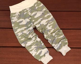 Camo Kids Joggers - Baby or Toddler Pants, Sweatpants, Loungers, Pajama bottoms