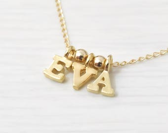 Gold filled Initial Necklace, Gold Letter Necklace Gold Necklace Gold Initial Necklace Bridesmaid Gift Delicate Necklace Simple Gold Jewelry