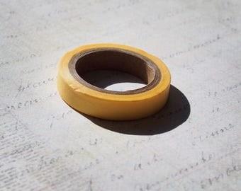Washi tape thin plain color yellow sun - Japanese washi paper tape