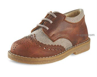 Oxford baby boy shoes tobacco blue brown leather wingtips shoes baby wedding shoes baby boy baptism shoes size 4 5 6 7 8 9 US EU Toddler