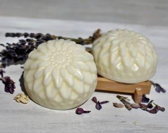Lavender & Lilac Solid Hair Conditioner Bar with Tucuma Butter, Argan, Jojoba, Shea Butter, Pro Vitamin B5, Lavender Essential Oils