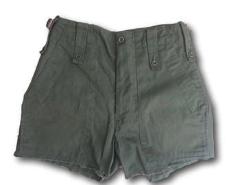 Ladies Re-Made Shorts, Hot Pants, Olive Green,OD Green