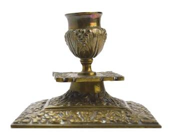 Brass Vintage Candle Holder Vintage Square Brass Candlestick Vintage Lighting Candlestick Holder