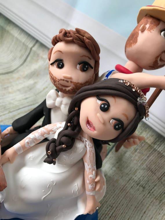 Wedding cake Topper Italian/Gondola Fully Personalised a lovely keepsake - Bride and Groom/Same Sex/Wedding couple