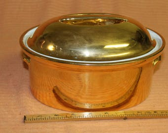 Gold Royal Worcester baking dish  Circa 1930
