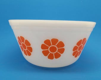Federal Orange Daisy Bowl