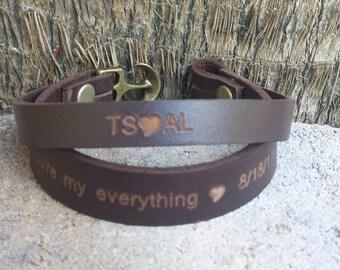 FREE SHIPPING-Men Double Strap Bracelet,GPS Leather Bracelet,Custom Bracelet,Men Bracelet,Men Leather Bracelet,Personalized Men Bracelet,