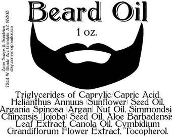 Beard Oil, Unscented, 1 fl oz
