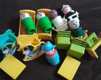 Vintage Fisher Price Little People Hospital LOT