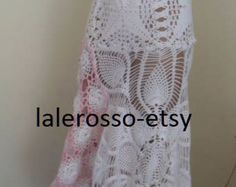 Bohemian crocheted skirt made of small doily.tablecloth skirt. Single size 38-42 European measure
