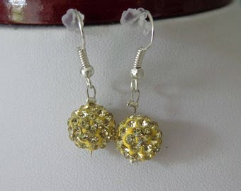 Yellow wedding gold filled earrings