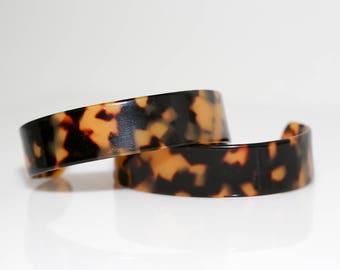 Leopard Lucite Cuff Bracelet