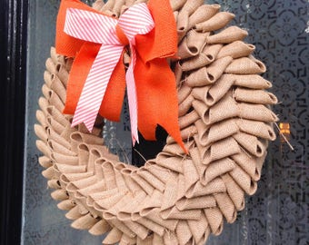 Autumn Hessian Braid Door Wreath.