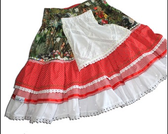 Dirndl / tiered skirt. Costume rock | Costume replacement
