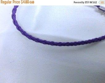 Clearance sale Purple Leather Braided Bracelet , men , women, teens, simple , clean, wrist, gift