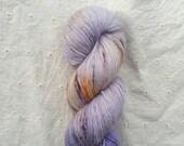 Queen Mab - 1-ply speckled sock yarn on VESTA 100% SW Merino fingering - 100g/400yds - ready to ship