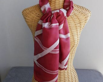 blanche@esysoie and stylized red silk scarf