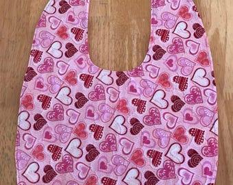 Baby Bib - Hearts