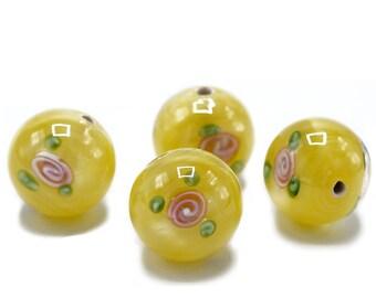 Handmade Czech Glass Bead/Jewelry Making Supply/Lampwork beads  B819