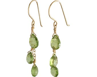 Green Earrings for Women - Peridot Earrings - Peridot Jewelry - Peridot Jewelry for Women - Green Earrings - August Birthstone Earrings