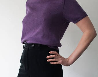 vintage purple knit sweater / womens medium / m / vintage knits