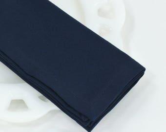 Navy blue napkins, cloth napkins, fabric napkins, table linens, lunchbox supplies, wedding decor, baby boy shower, size 12x12 set of 4