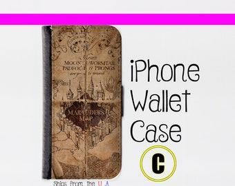 Harry Potter iPhone SE Case - Harry Potter iPhone SE Wallet Case - iphone SE case - iPhone se Wallet case (C)