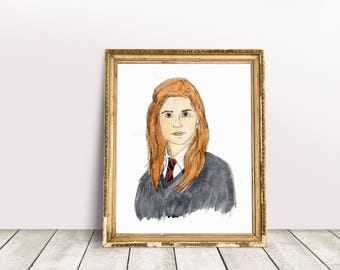 Ginny Fan Art, Bonnie Wright, game room decor, harry potter