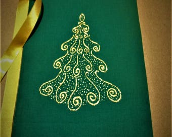 Christmas gifts with lace*Painted Christmas gift bags*Green Christmas gift bags*Gold-painted Christmas bags*Gift lace bags*Christmas bags*
